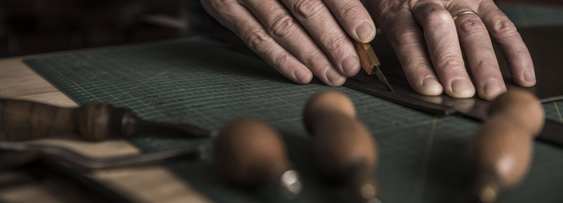 Artisan Working with Leather