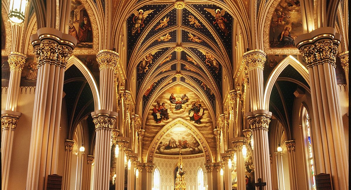 the Basilica at the University of Notre Dame