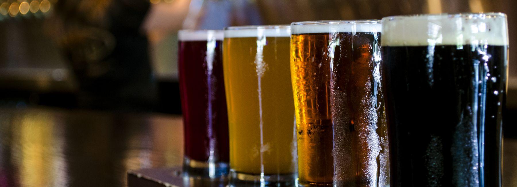 Flight of Craft Beer
