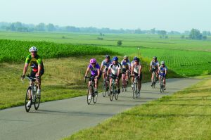 Bikers on the Pumpkinvine Trail
