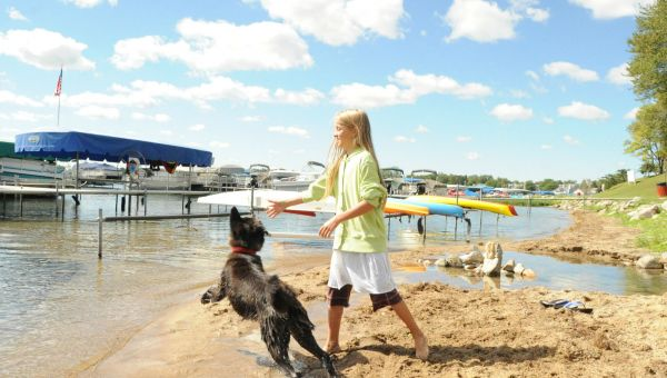 Marshall Culver Lake Dog on shore