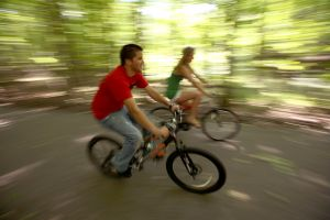 2 People Biking at Potato Creek State Park