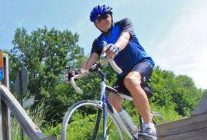 Biker on the Calumet Bike Trail