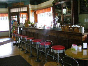 The wooden soda fountain
