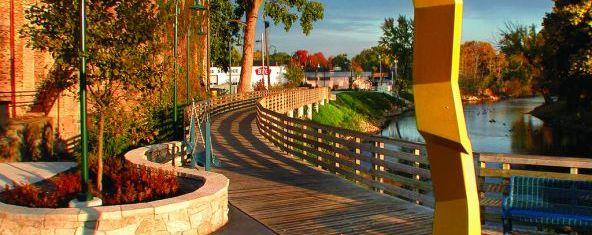 The RiverWalk in downtown Elkhart.