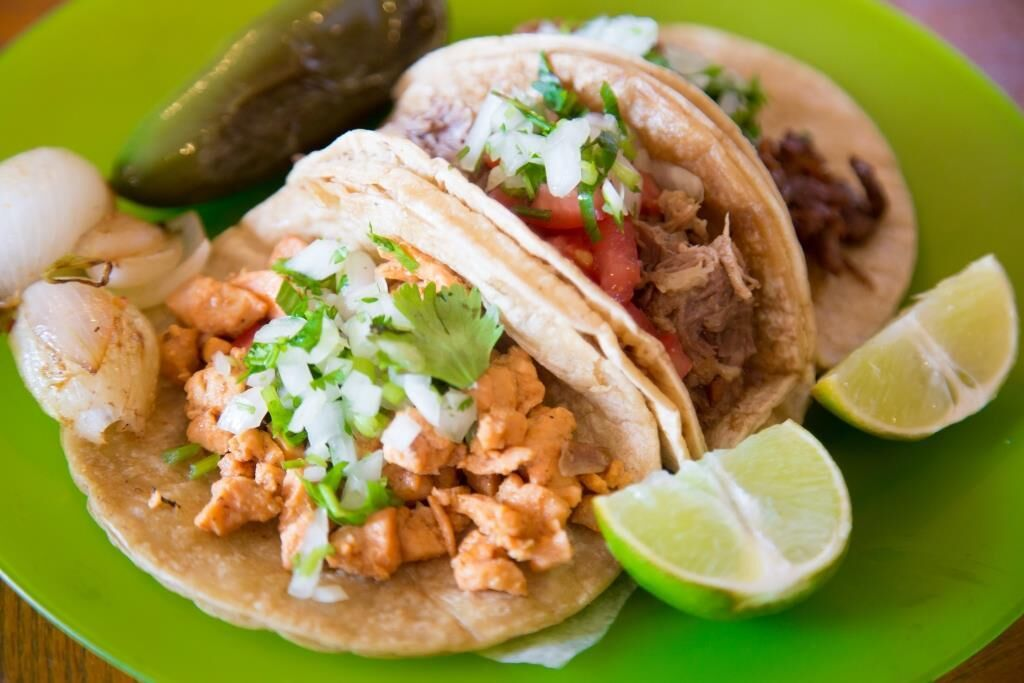 Soft shell tacos from Mila's Mini Market in Plymouth, Indiana.