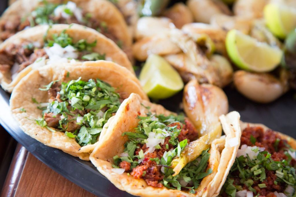 Tacos from Los Aces in South Bend, Indiana