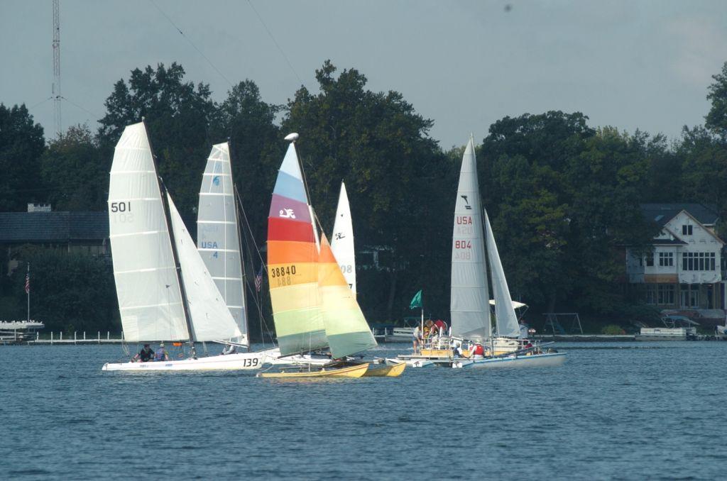 sail boats on lake in Kosciusko County