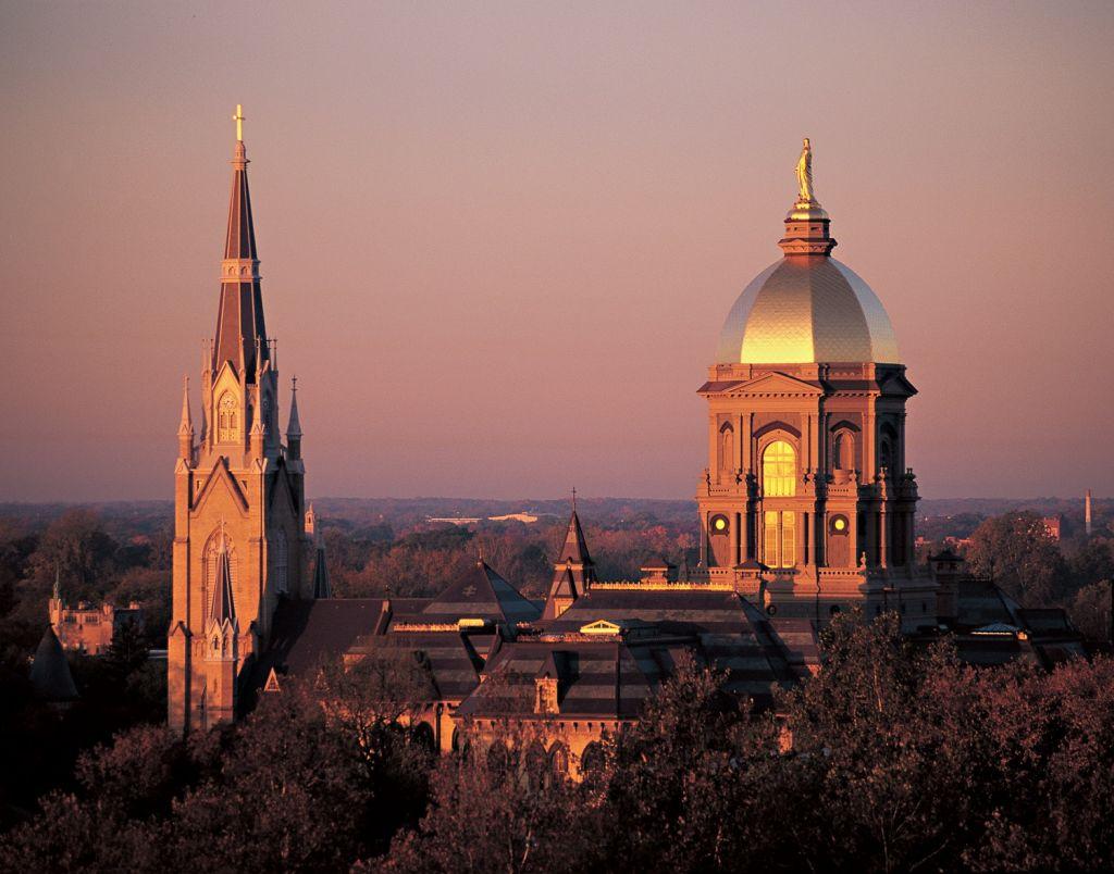 University of Notre Dame skyline