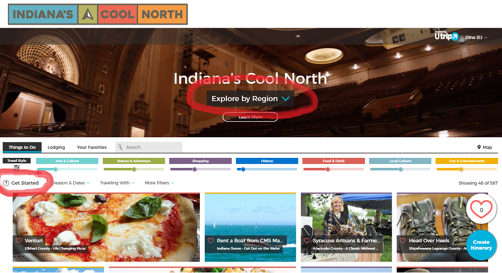 a trip planner for things to do in indiana s cool north nitdc