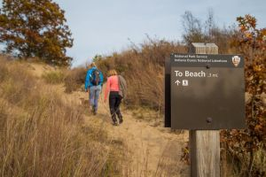 HIking in the Indiana Dunes