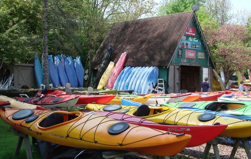 kayaks, canoes