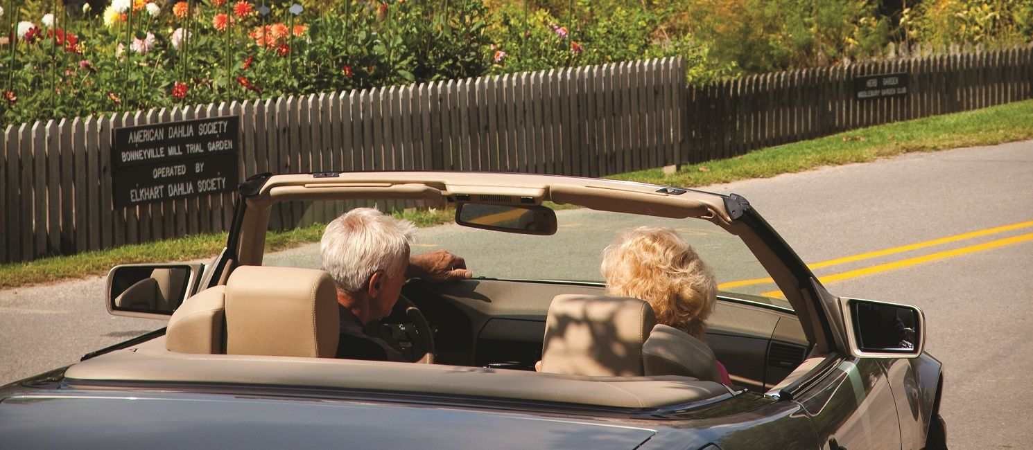 convertible on the Heritage Trail