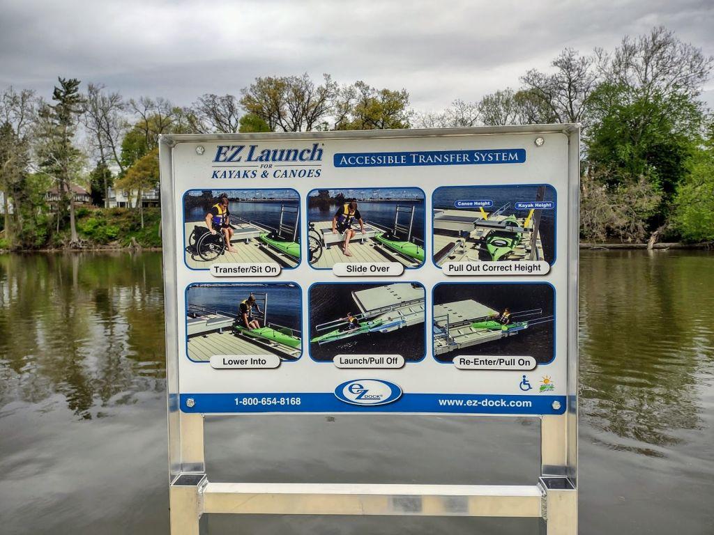 ADA Friendly Kayak launch in Elkhart