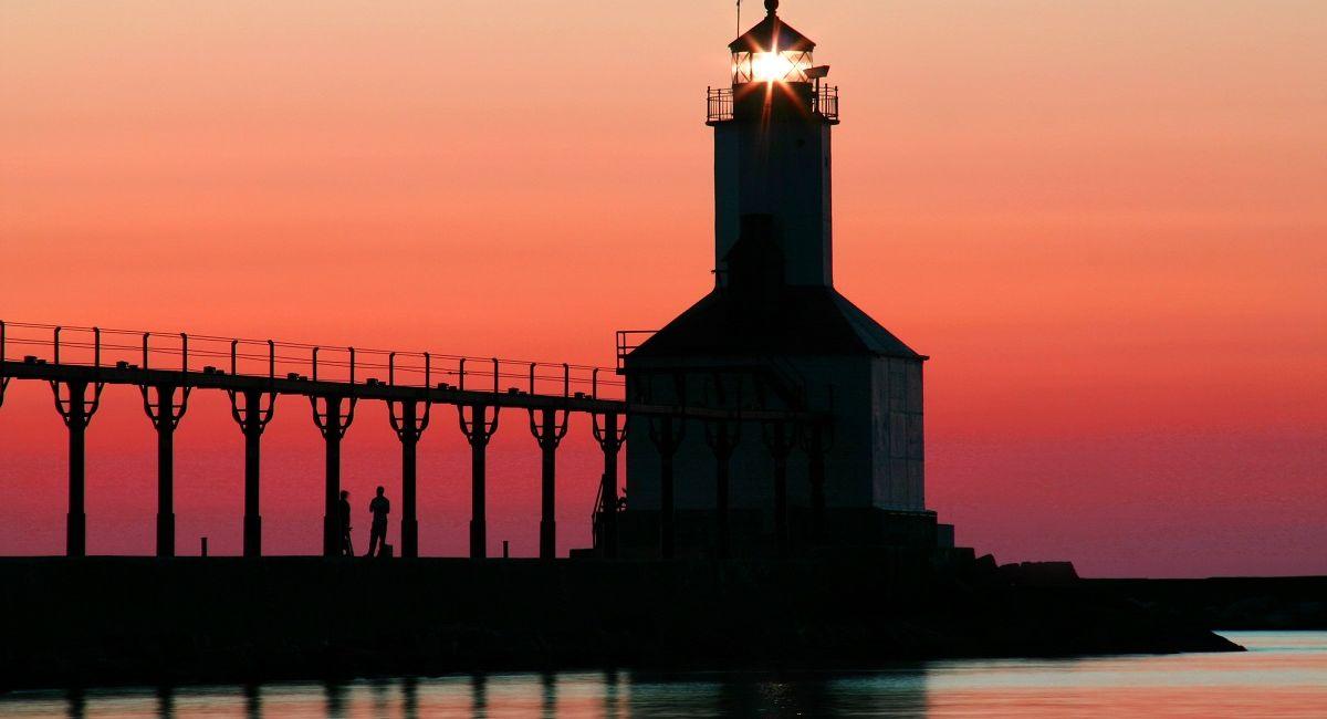 Lighthouse at Michigan City Washington Park